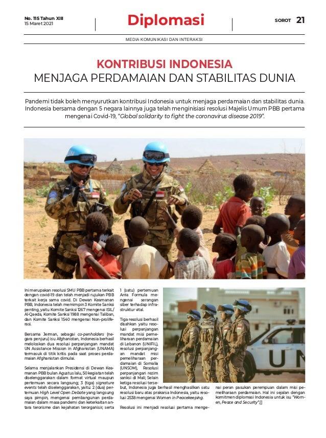 Diplomasi SOROT 21 MEDIA KOMUNIKASI DAN INTERAKSI Ini merupakan resolusi SMU PBB pertama terkait dengan covid-19 dan telah...