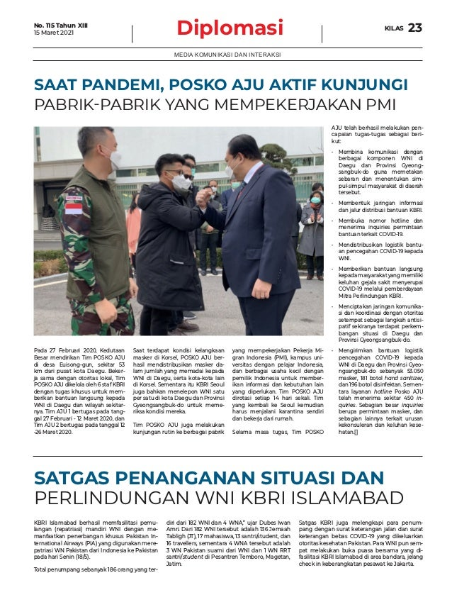 Tabloid Diplomasi Edisi Maret 2021