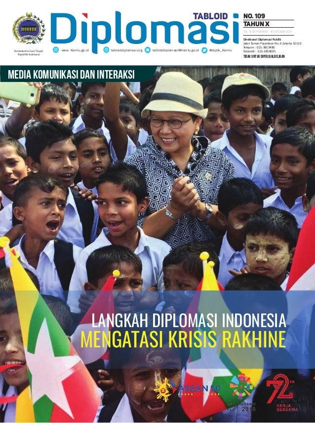 tidak untuk diperjualbelikan Diplomasitabloiddiplomasi.org tabloiddiplomasi@Kemlu.go.id @diplik_Kemluwww. Kemlu.go.id No. ...