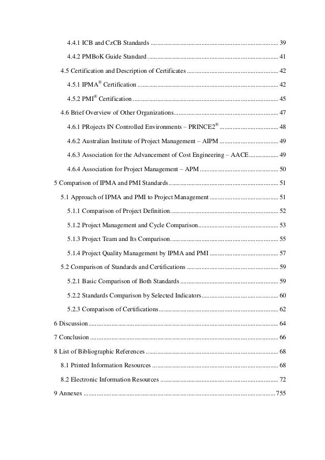 Analysis Of Ipma And Pmi Standards And Their Comparison