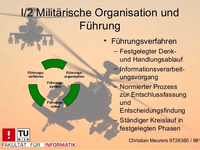 I/2 Militärische Organisation und              Führung                                        • Führungsverfahren         ...