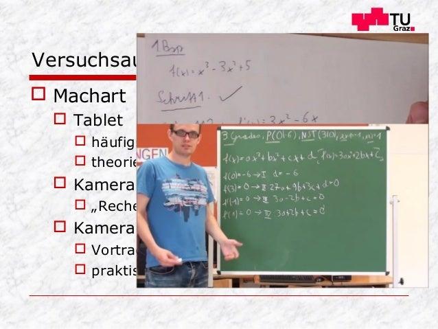 """ Machart  Tablet  häufigster Typ  theorielastiger Stoff  Kamera mit Blatt  """"Rechenbeispiele""""  Kamera mit Tafel  Vo..."""