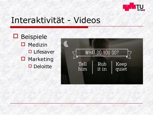 Interaktivität - Videos  Beispiele  Medizin  Lifesaver  Marketing  Deloitte