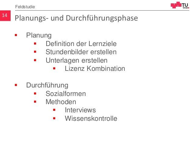 Planungs- und Durchführungsphase  Planung  Definition der Lernziele  Stundenbilder erstellen  Unterlagen erstellen  L...