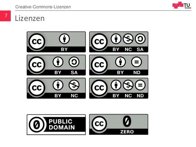 Lizenzen7 Creative-Commons-Lizenzen