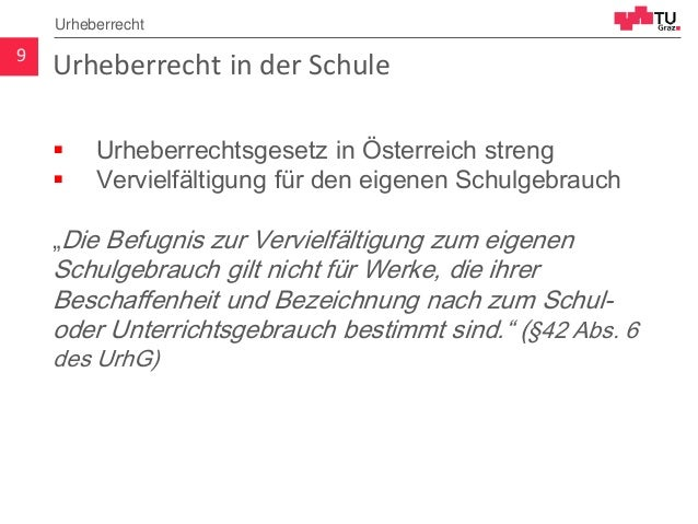 """Urheberrecht in der Schule  Urheberrechtsgesetz in Österreich streng  Vervielfältigung für den eigenen Schulgebrauch """"Di..."""