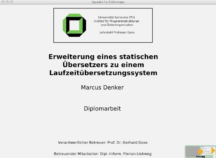 Erweiterung eines statischen Übersetzers zu einem Laufzeitübersetzungssystem