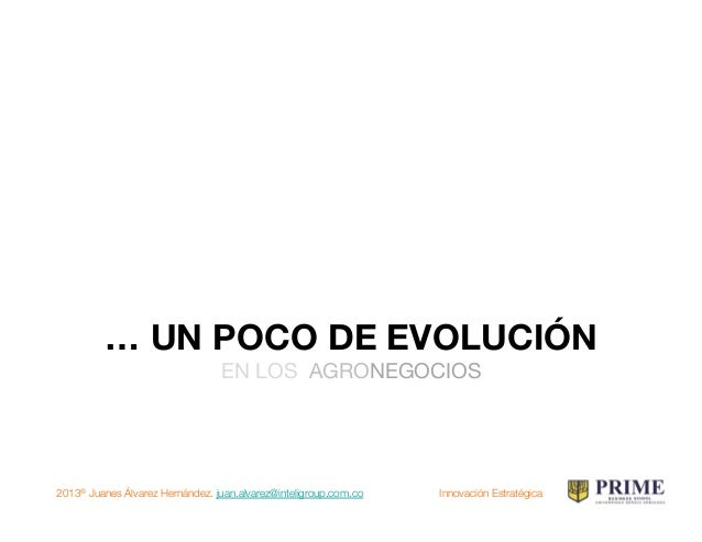 2013® Juanes Álvarez Hernández. juan.alvarez@inteligroup.com.co    Innovación Estratégica DE LA PRODUCTIVIDAD A LA INNOVAC...