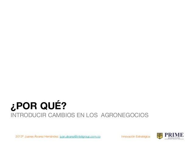 2013® Juanes Álvarez Hernández. juan.alvarez@inteligroup.com.co    Innovación Estratégica ¿EN QUE MUNDO NOS MOVEMOS? ¿Huma...