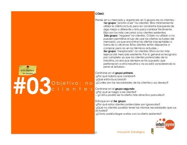 2013® Juanes Álvarez Hernández. juan.alvarez@inteligroup.com.co    Innovación Estratégica #05 O b j e t i v o : clientes m...