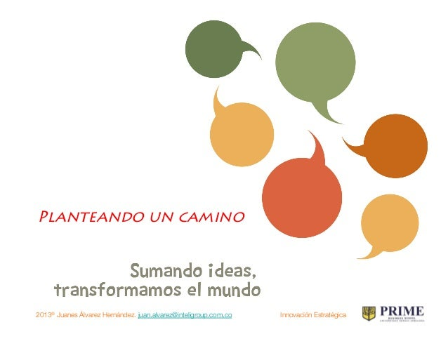 2013® Juanes Álvarez Hernández. juan.alvarez@inteligroup.com.co    Innovación Estratégica Lo que sigue…