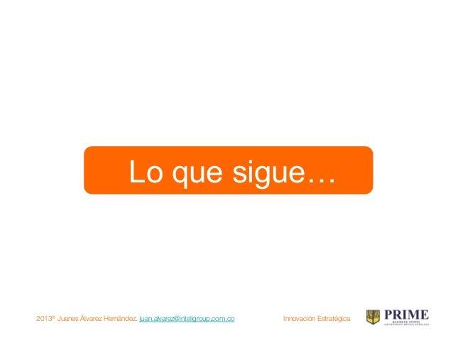 2013® Juanes Álvarez Hernández. juan.alvarez@inteligroup.com.co    Innovación Estratégica Bibliografía: Archivos Propios y...