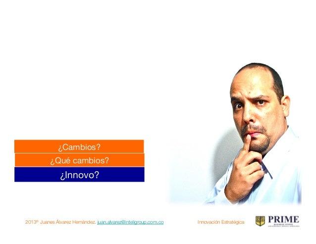 2013® Juanes Álvarez Hernández. juan.alvarez@inteligroup.com.co    Innovación Estratégica ① Énfasis  en  la  innova...