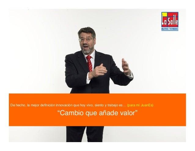 2013® Juanes Álvarez Hernández. juan.alvarez@inteligroup.com.co    Innovación Estratégica ¡Es así de simple!! Y es esta si...