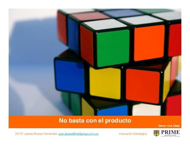 2013® Juanes Álvarez Hernández. juan.alvarez@inteligroup.com.co    Innovación Estratégica Es necesario pensar en el client...