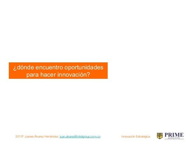 2013® Juanes Álvarez Hernández. juan.alvarez@inteligroup.com.co    Innovación Estratégica Partiendo de un mercado cautivo!...