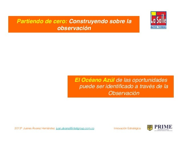 2013® Juanes Álvarez Hernández. juan.alvarez@inteligroup.com.co    Innovación Estratégica NEGOCIO! USUARIO! TECNOLOGÍA! vi...