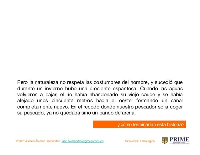 2013® Juanes Álvarez Hernández. juan.alvarez@inteligroup.com.co    Innovación Estratégica Pero la naturaleza no respeta la...