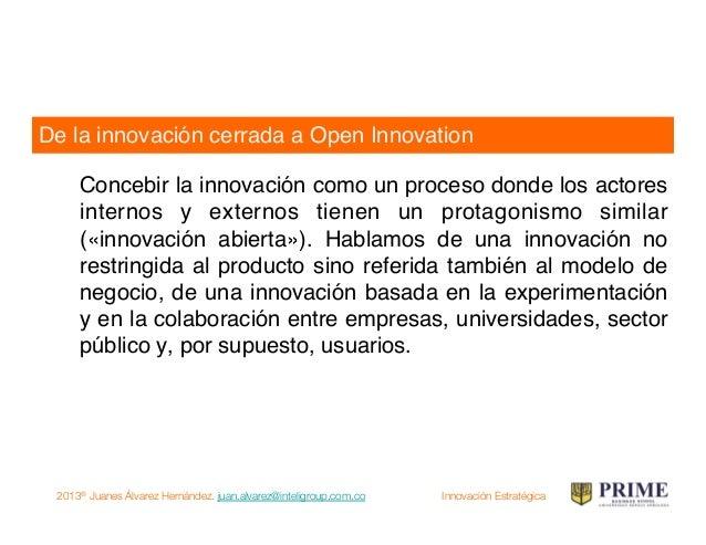 2013® Juanes Álvarez Hernández. juan.alvarez@inteligroup.com.co    Innovación Estratégica …si hablamos de innovación Temar...
