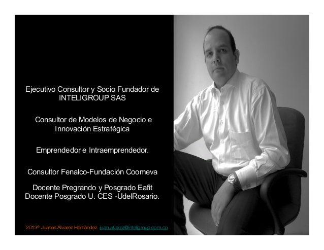 2013® Juanes Álvarez Hernández. juan.alvarez@inteligroup.com.co    Innovación Estratégica Ejecutivo Consultor y Socio Fund...