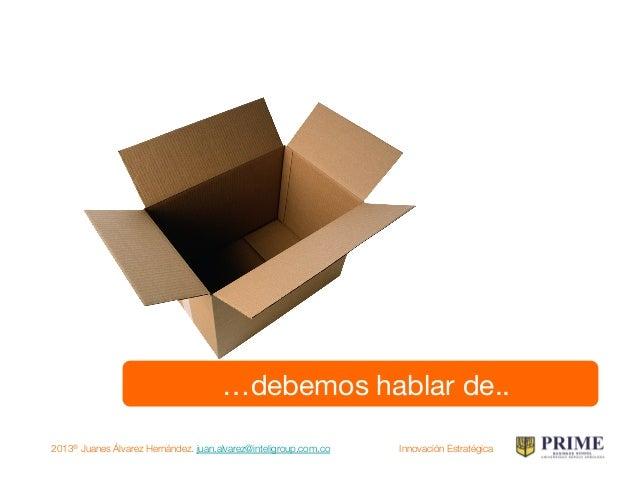 2013® Juanes Álvarez Hernández. juan.alvarez@inteligroup.com.co    Innovación Estratégica Innovación tecnológica