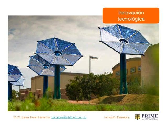 2013® Juanes Álvarez Hernández. juan.alvarez@inteligroup.com.co    Innovación Estratégica Innovación en procesos
