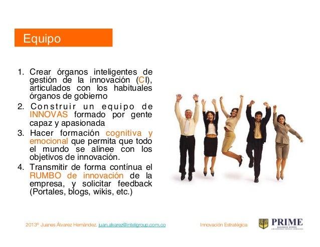 2013® Juanes Álvarez Hernández. juan.alvarez@inteligroup.com.co    Innovación Estratégica Tercer movimiento: cambio Cambio...