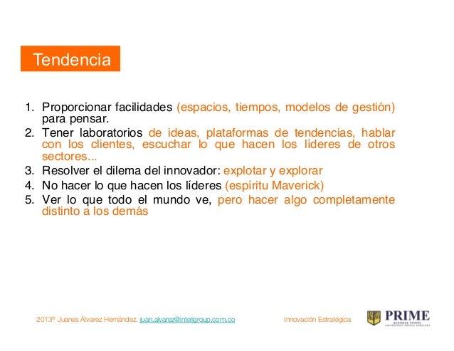 2013® Juanes Álvarez Hernández. juan.alvarez@inteligroup.com.co    Innovación Estratégica Quinto movimiento: creatividad C...