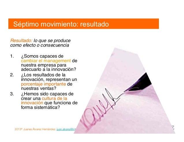 2013® Juanes Álvarez Hernández. juan.alvarez@inteligroup.com.co    Innovación Estratégica Resultado 1.Medir los resultado...
