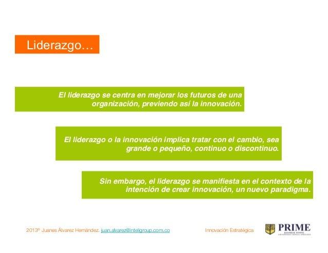 2013® Juanes Álvarez Hernández. juan.alvarez@inteligroup.com.co    Innovación Estratégica Innovación Radical Invención! Av...