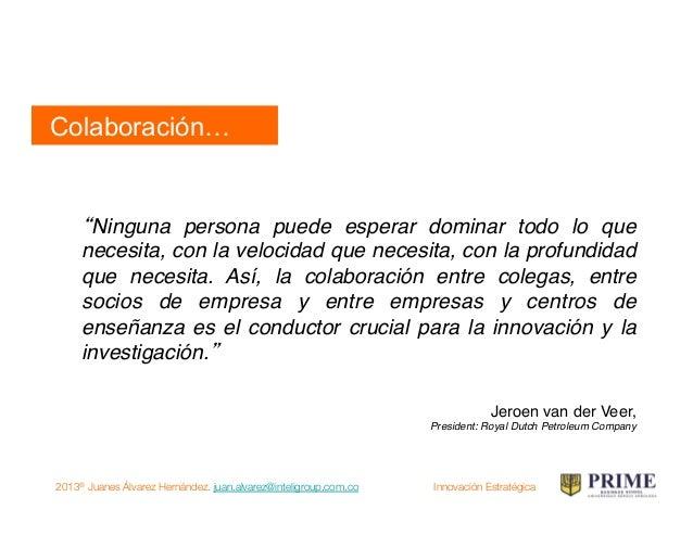 2013® Juanes Álvarez Hernández. juan.alvarez@inteligroup.com.co    Innovación Estratégica INNOVACIÓN! Pequeñas Ideas, Gran...