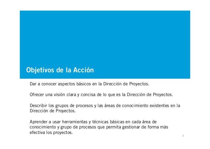 Introducción a la Dirección de Proyectos Slide 2
