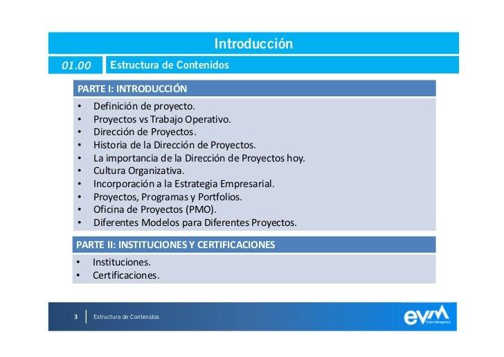 Introducción a la Dirección de Proyectos Slide 3