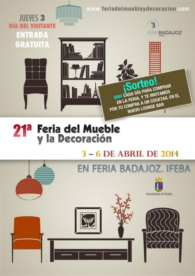 Diptico xxi feria del mueble y la decoraci n 2014 - La factoria del mueble ...