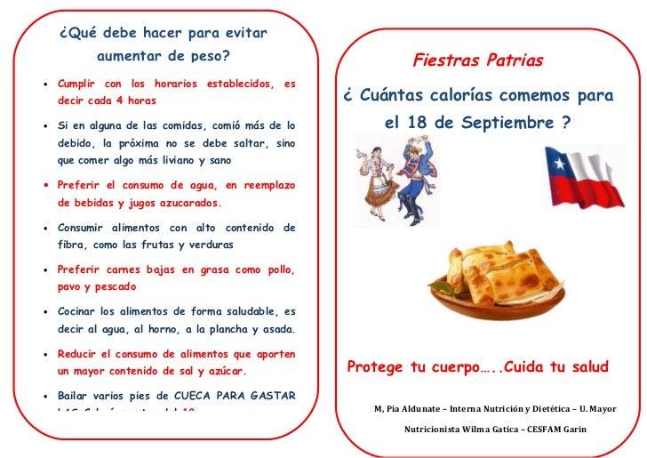 Diptico 18 - Como calcular las calorias de los alimentos que consumo ...