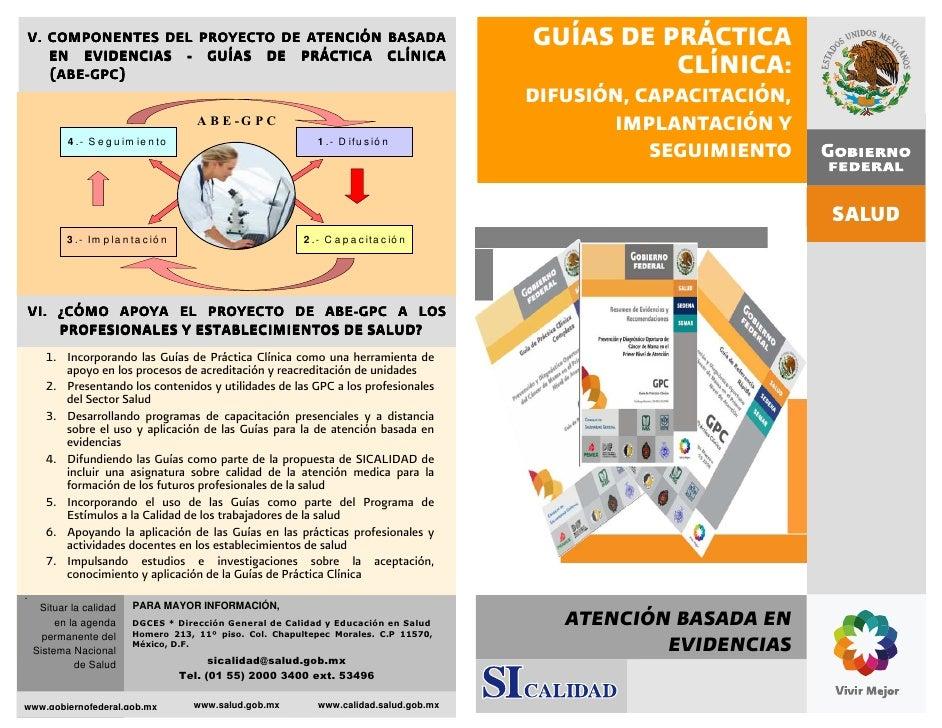 GUIAS DE PRACTICA CLINICAS