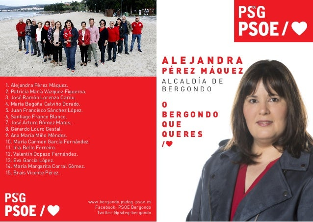 1. Alejandra P�rez M�quez. 2. Patricia Mar�a V�zquez Figueroa. 3. Jos� Ram�n Lorenzo Carou. 4. Mar�a Bego�a Calvi�o Dorado...