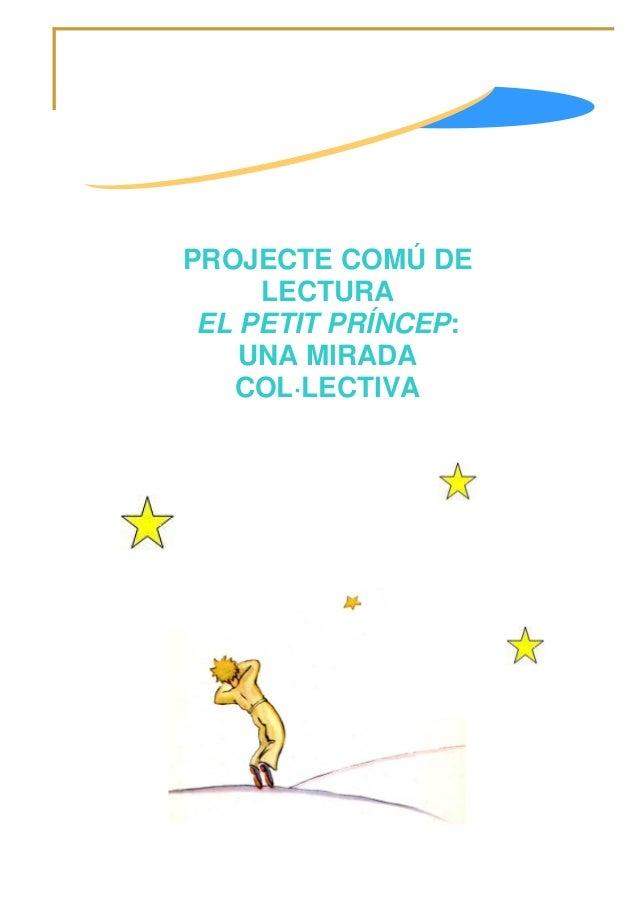PROJECTE COMÚ DE LECTURA EL PETIT PRÍNCEP: UNA MIRADA COL·LECTIVA