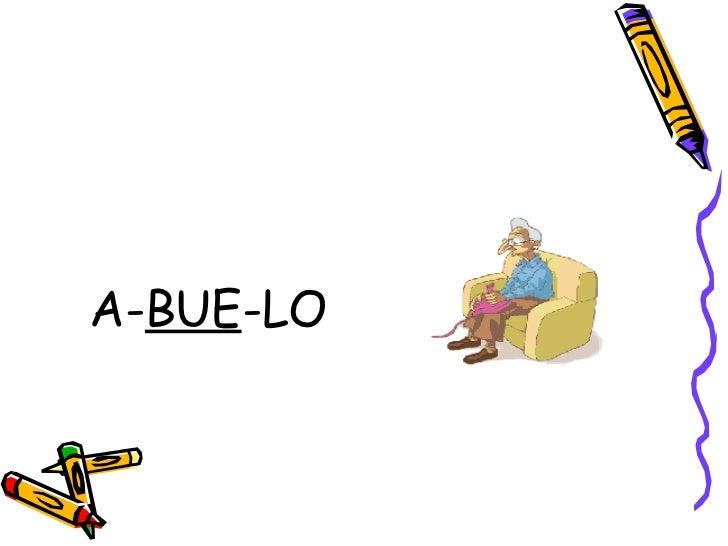 <ul><li>A- BUE -LO </li></ul>