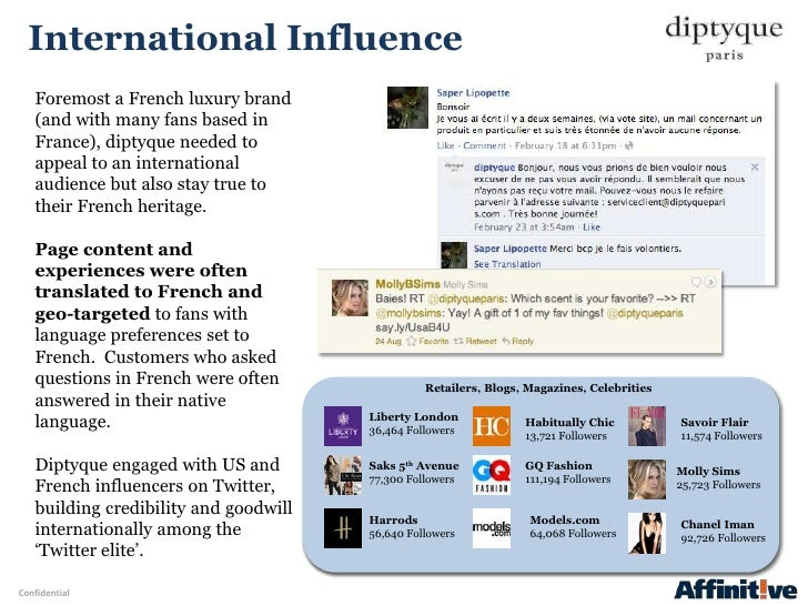 International Influence   Foremost a French luxury brand   (and with many fans based in   France), diptyque needed to   ap...
