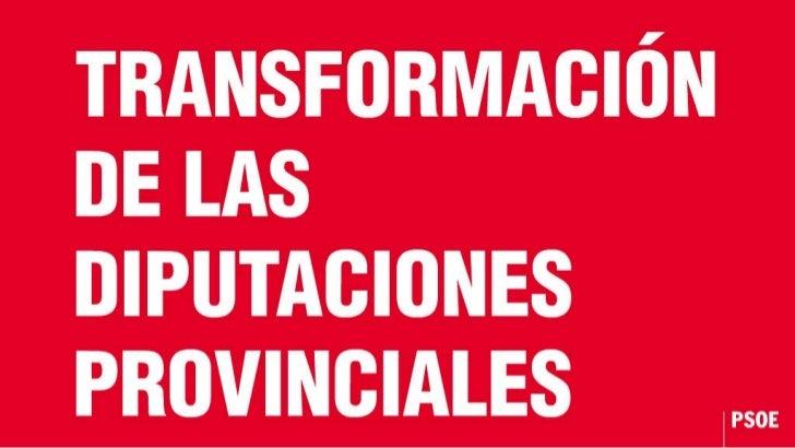 Transformación de las Diputaciones Provinciales