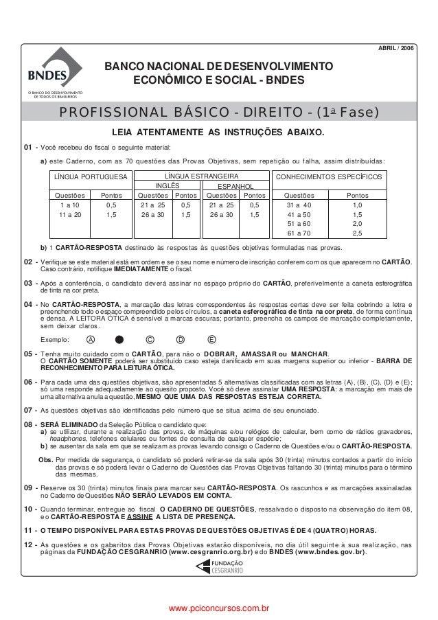 ABRIL / 2006                               BANCO NACIONAL DE DESENVOLVIMENTO                                   ECONÔMICO E...