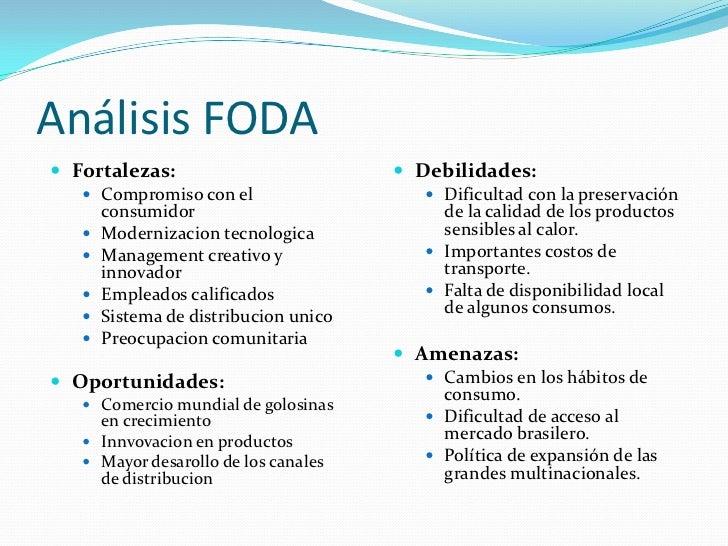 Análisis FODA Fortalezas:                           Debilidades:    Compromiso con el                     Dificultad c...