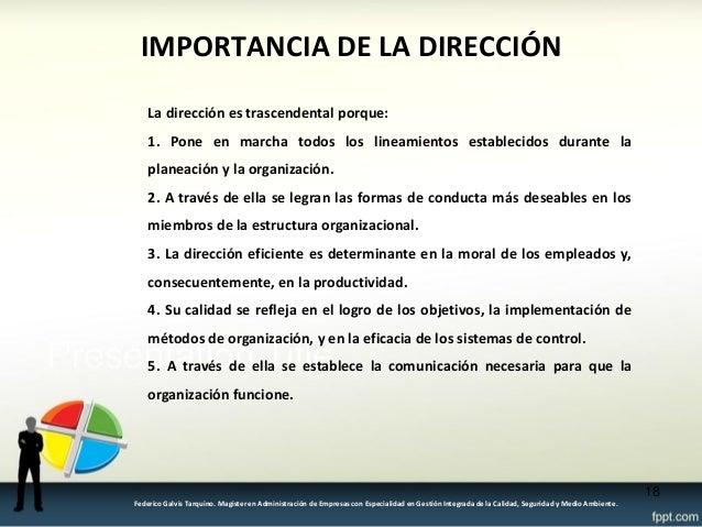 Proceso administrativo direcci n y control for Importancia de la oficina