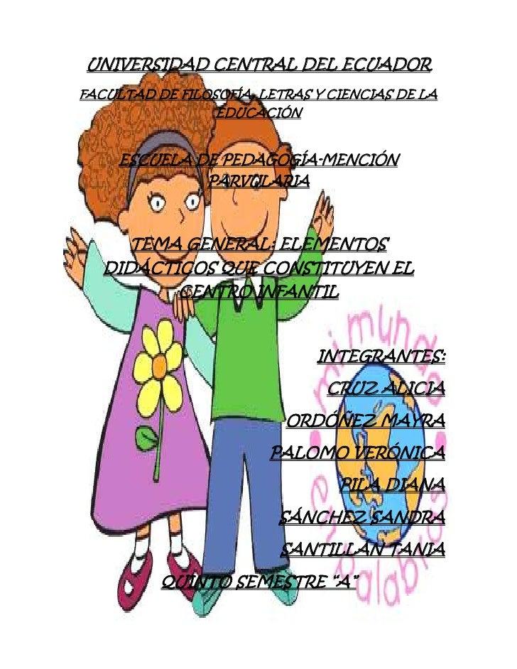 UNIVERSIDAD CENTRAL DEL ECUADORFACULTAD DE FILOSOFÍA, LETRAS Y CIENCIAS DE LA                 EDUCACIÓN     ESCUELA DE PED...