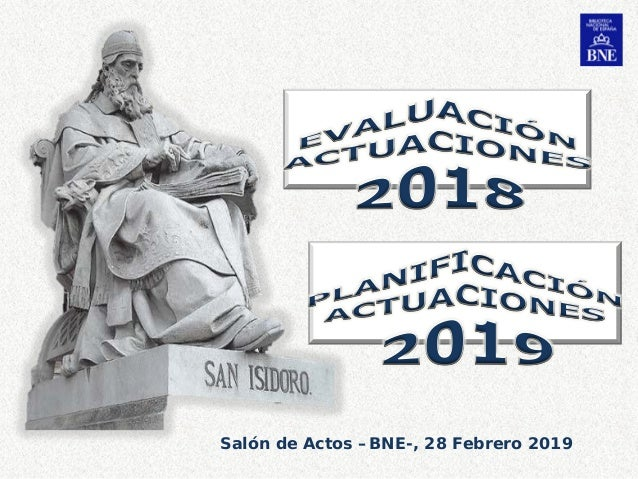 Salón de Actos –BNE-, 28 Febrero 2019 1