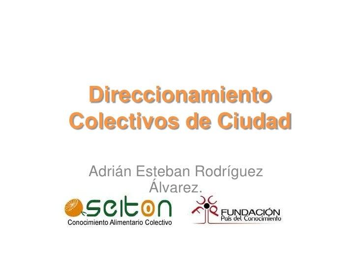 Direccionamiento Colectivos de Ciudad<br />Adrián Esteban Rodríguez Álvarez.<br />