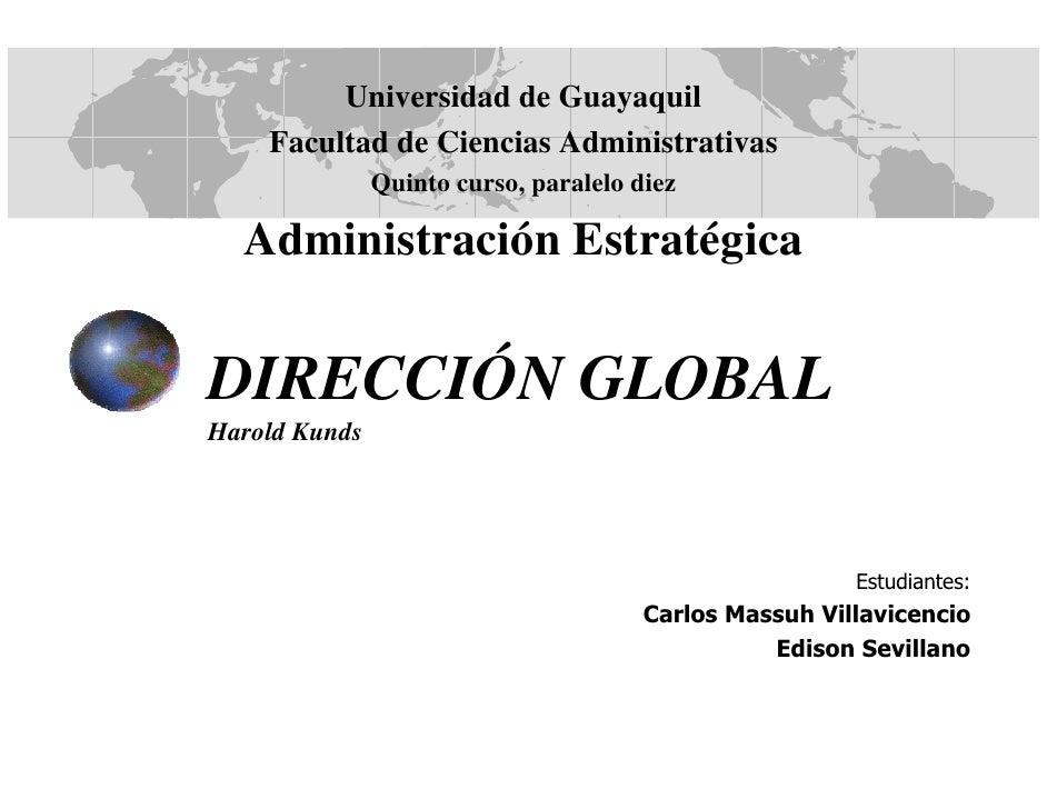Universidad de Guayaquil     Facultad de Ciencias Administrativas                Quinto curso, paralelo diez    Administra...