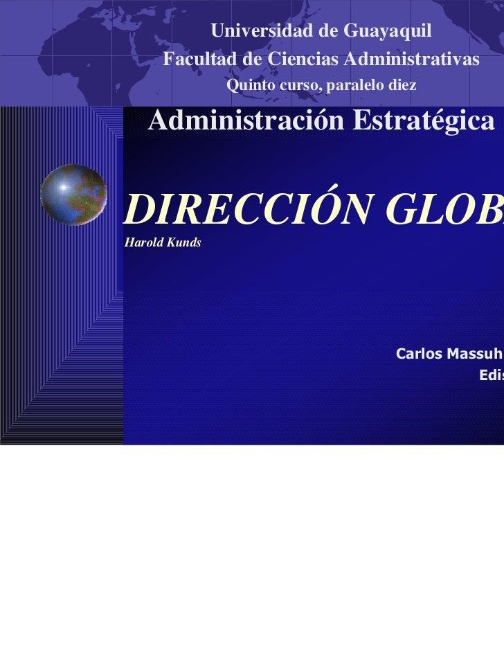 Universidad de Guayaquil     Facultad de Ciencias Administrativas               Quinto curso, paralelo diez   Administraci...