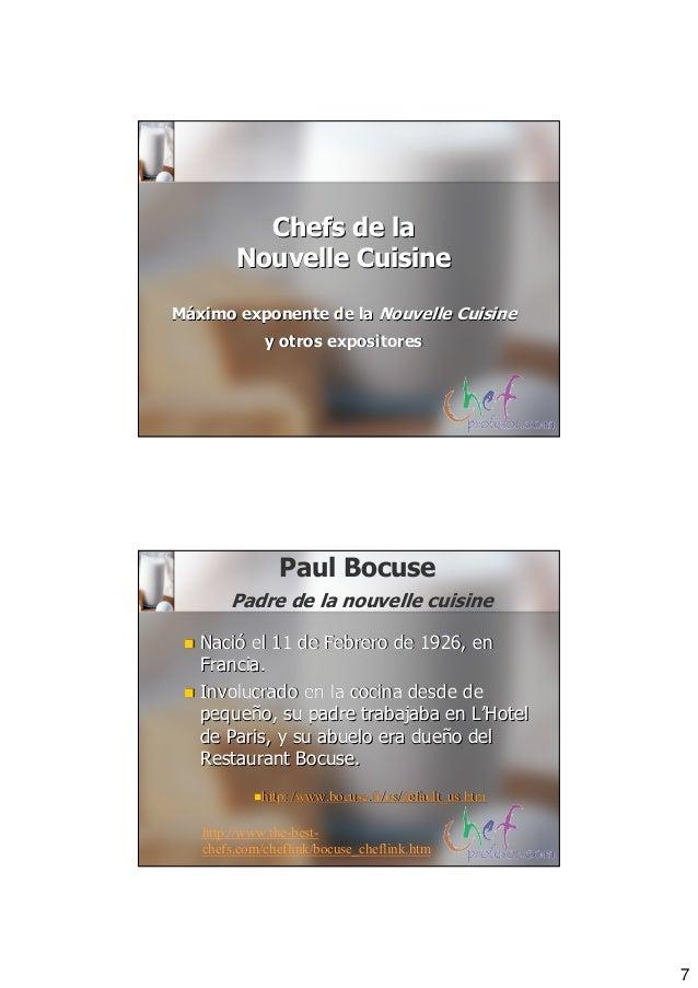 Direccion nouvelle cuisine for Nouvelle cuisine